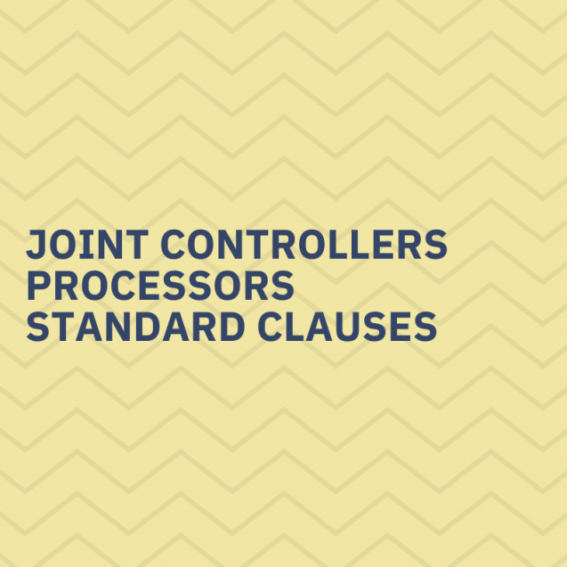Joint controllers, processors, standard clauses