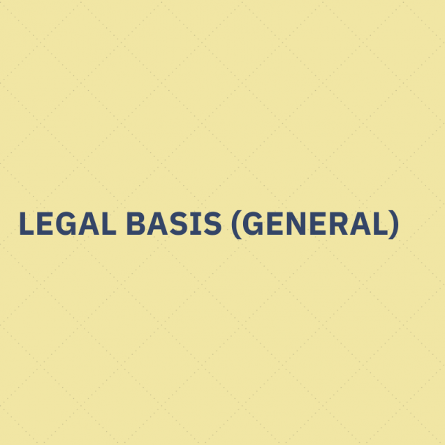 legal basis processing personal data