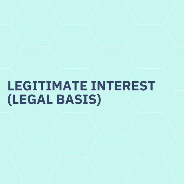 Legitimate interest (legal basis)