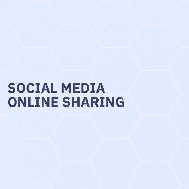 Social media, online sharing