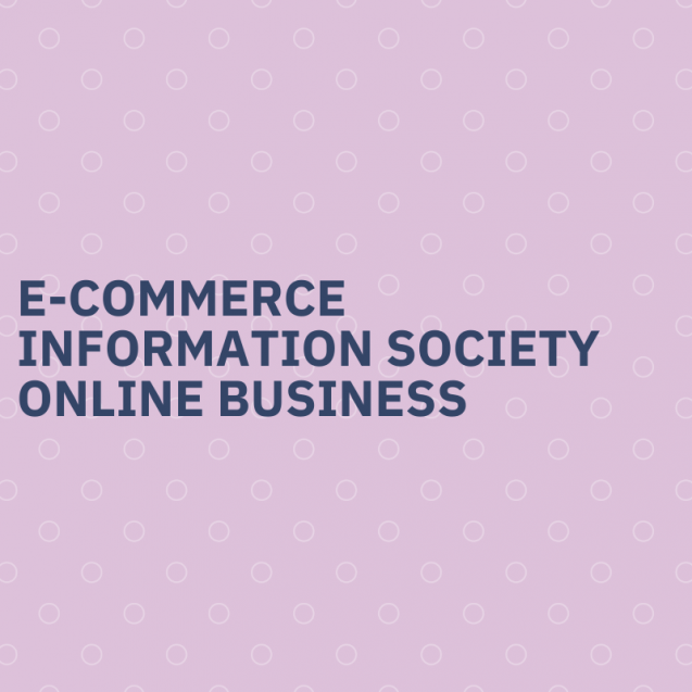 e-commerce, information society, online business