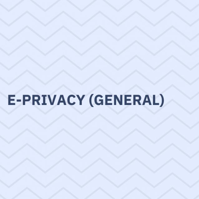 e-privacy general